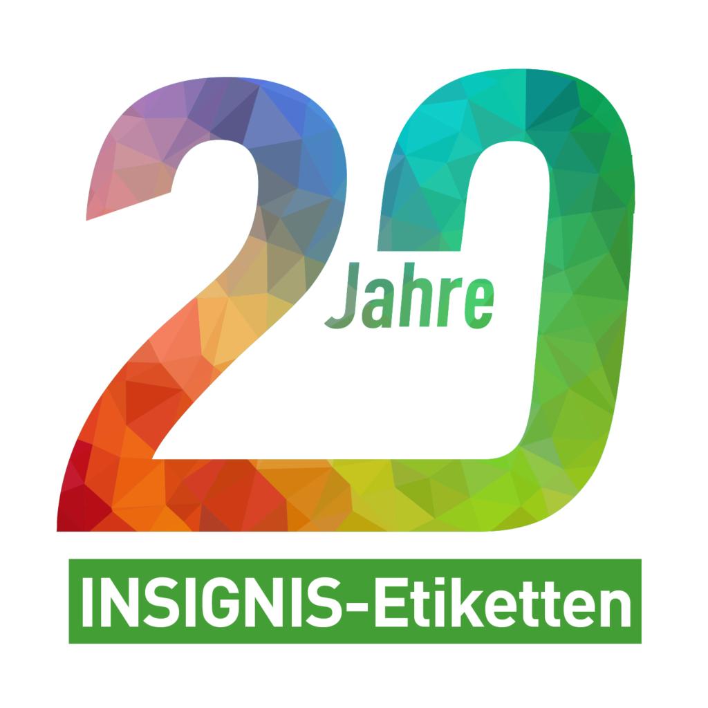 20 Jahre INSIGNIS-Etiketten