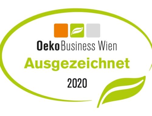 Ausgezeichneter OekoBusiness-Wien Betrieb